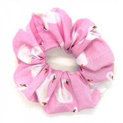 Pink Swan Scrunchie