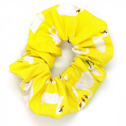 Yellow Swan Scrunchie