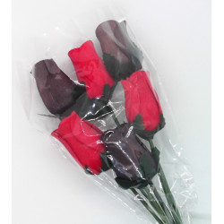 Wooden Rose Bouquet - Black...