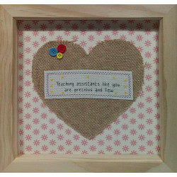 Framed Cross stitch - Thank...