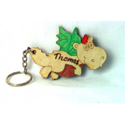 Personalised Dragon Keyring