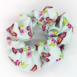 Blue Butterfly Scrunchie