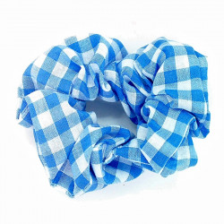Light Blue Gingham Scrunchie