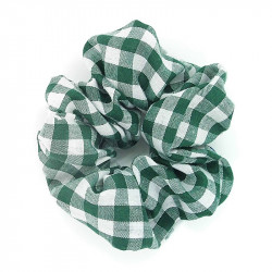 Forest Green Gingham Scrunchie