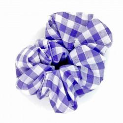 Lilac Gingham Scrunchie