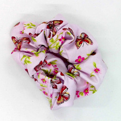 Pink Butterfly Scrunchie