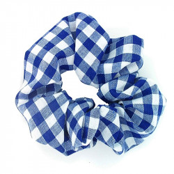 Royal Blue Gingham Scrunchie
