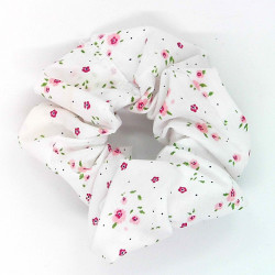 White, Pink Ditsy Floral...