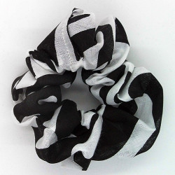 Zebra Print Scrunchie