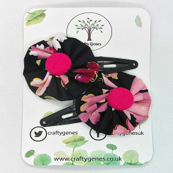 Black & Pink Hair Clips