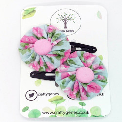 Blue & Baby Pink Hair Clips