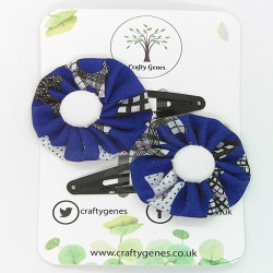 Blue Dog Hair Clips
