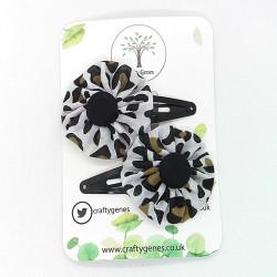 Cheetah Print Hair Clips