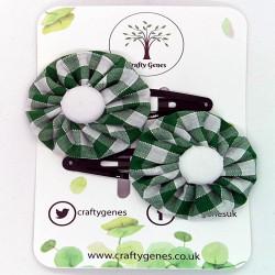 Forest Green Gingham Hair...