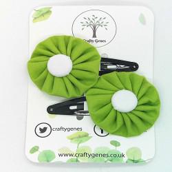 Lime Green Hair Clips