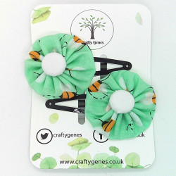 Mint Bee Hair Clips