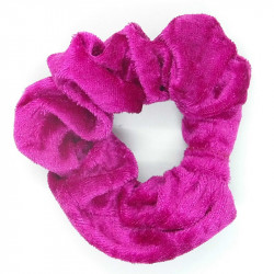 Cerise Velvet Hair Scrunchie
