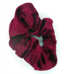 Wine Velvet Hair Scrunchie