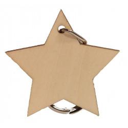 Personalised Star Keyring