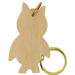 Personalised Owl Keyring 3