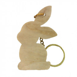 Personalised Rabbit Keyring 2