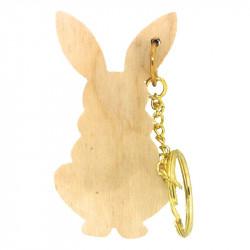 Personalised Rabbit Keyring 3