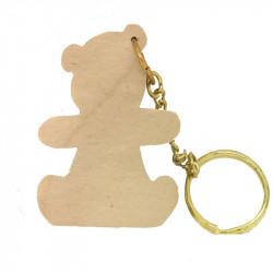 Personalised Teddy Keyring