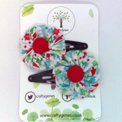 Christmas Hair Clips - Trees