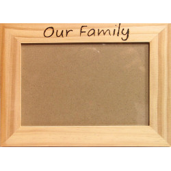 6x4 Wooden Photo Frame