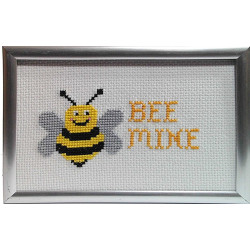 Framed Cross stitch - Bee Mine