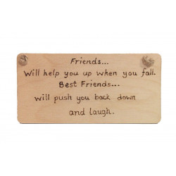 Friends will help you...