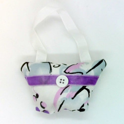 Mini Lavender Handbag - White