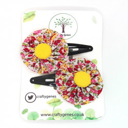Ditzy Autumn Floral Hair Clips