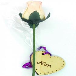Wooden Rose - Cream & Pink...