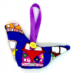 Fabric Bird - Purple Camper...