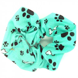 Blue Paw Scrunchie