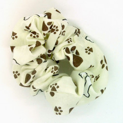 Cream Paw Scrunchie