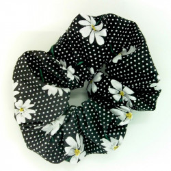 Black Daisy Scrunchie
