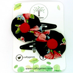 Black Strawberry Hair Clips