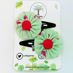 Mint Flamingo Hair Clips