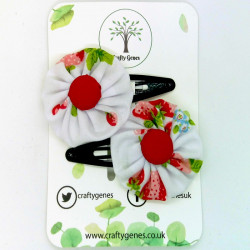 White Strawberry Hair Clips