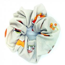 Grey Fox Hair Scrunchie