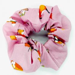 Pink Fox Hair Scrunchie