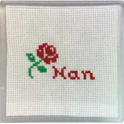 Cross stitch Coaster - Nan