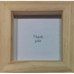 Framed Cross stitch - Thank...