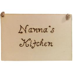 Nanna's Kitchen Plaque