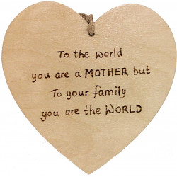 Heart Plaque - To the World...
