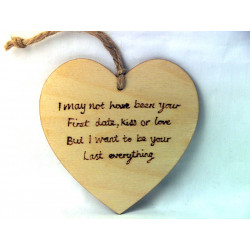 """Heart Plaque - """"I may not..."""