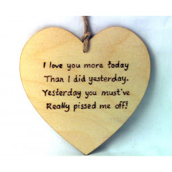"Heart Plaque - ""I love you..."