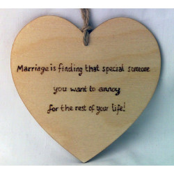 "Heart Plaque - ""Marriage is..."